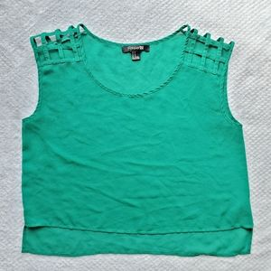Forever 21/Green High Low Crop Top/Size M